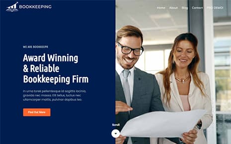 Free Bookkeeping WordPress Theme