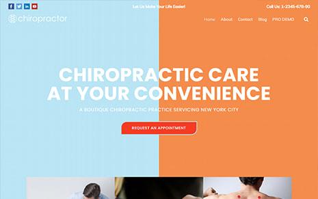 Free Chiropractor WordPress Theme – Chiropractor
