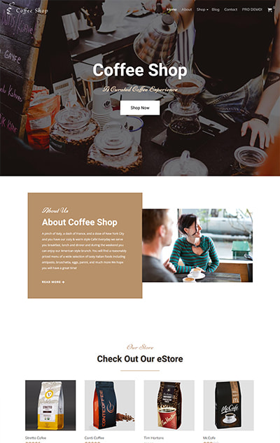 Free Coffee Shop WordPress Theme – CoffeeShop