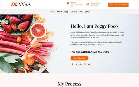 Free Diet & Nutrition WordPress Theme – Dietitian