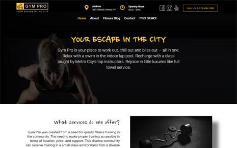 Free Gym WordPress Theme – Gym