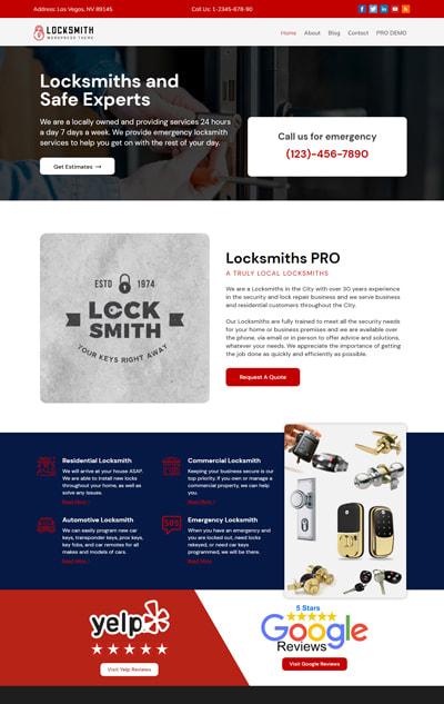 Free Locksmith WordPress Theme – Locksmith
