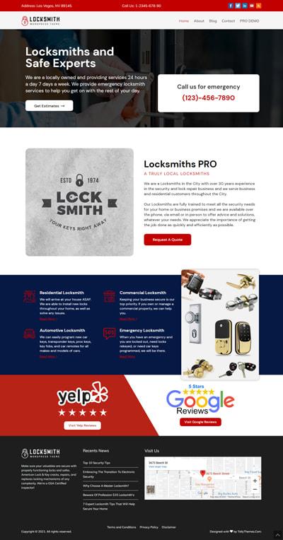 Locksmith Lite WORDPRESS THEME Full Demo