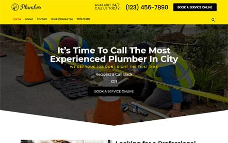 Free Plumber WordPress Theme – Plumber