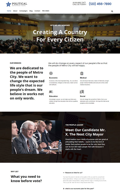 Free Political WordPress theme – Political