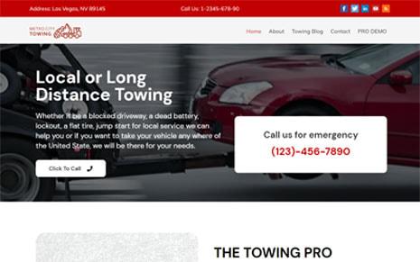 Free Towing Company WordPress Theme
