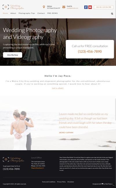 Wedding Photographer Lite WORDPRESS THEME Full Demo