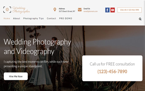 Free Wedding Photographer WordPress Theme – WeddingPhotographer