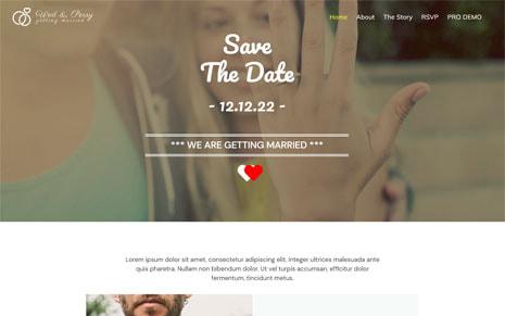 Free Wedding WordPress Theme – Wedding
