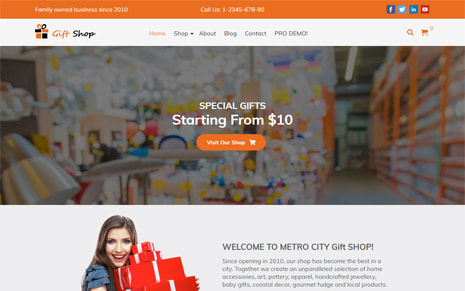 Free Gift Shop WordPress Theme – GiftShop