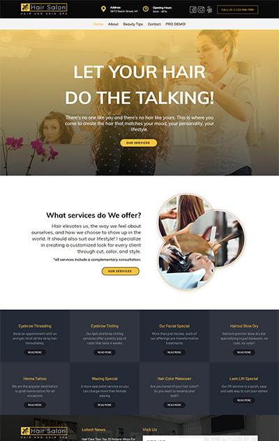 Free Hair Salon WordPress Theme – HairSalon Lite