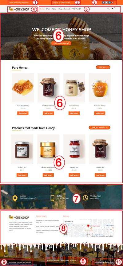 Free Honey Shop WordPress Theme – HoneyShop Lite Documentation