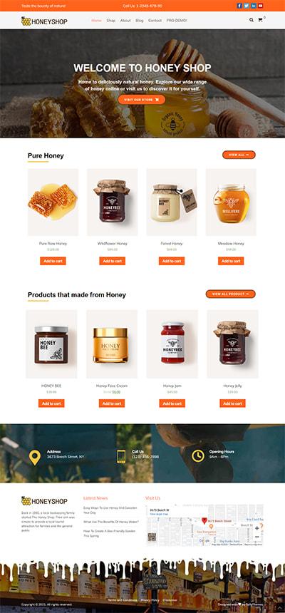 HoneyShop Free WORDPRESS THEME Full Demo