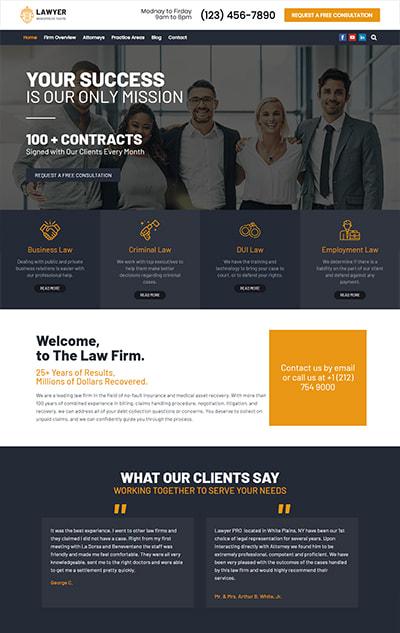Free Lawyer WordPress Theme – Lawyer Lite
