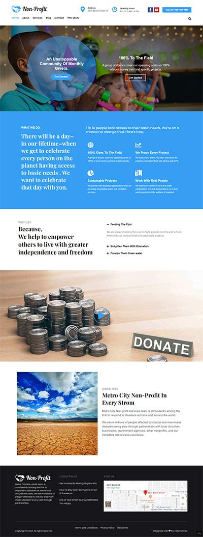 Nonprofit Lite WORDPRESS THEME Full Demo