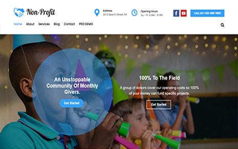 Free Non-Profit WordPress Theme – Nonprofit