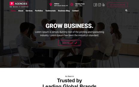 Agencies WordPress Theme – Agencies Pro