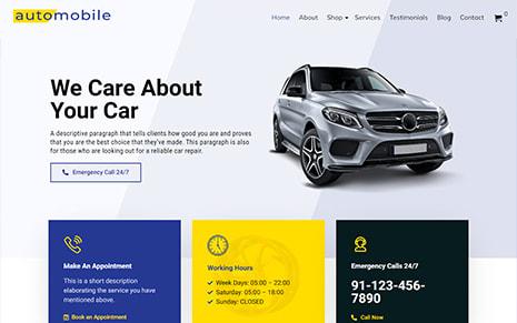 Automobile WordPress Theme – Automobile Pro