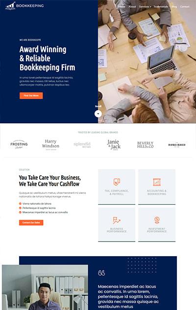Bookkeeping WordPress Theme – Bookkeeping Pro