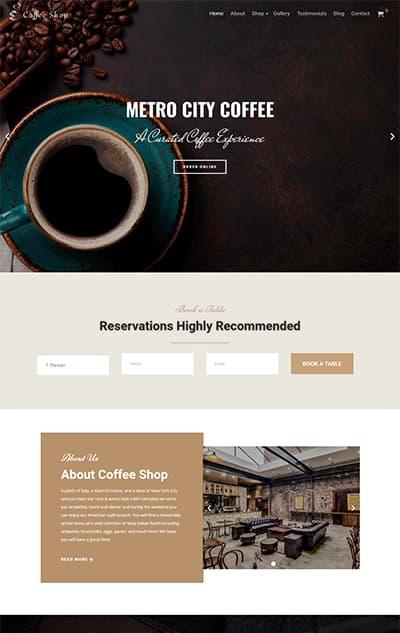 Coffee Shop WordPress Theme – CoffeeShop Pro