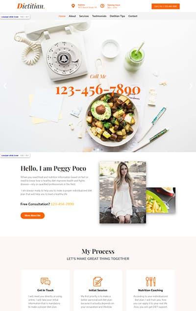 Diet & Nutrition WordPress Theme – Dietitian Pro