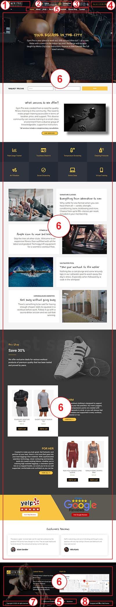 Gym WordPress Theme – Gym Pro Documentation