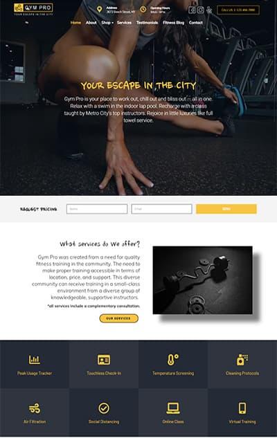 Gym WordPress Theme – Gym Pro