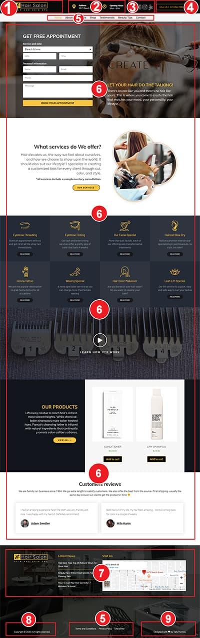 Hair Salon WordPress Theme – Hair Salon Pro Documentation
