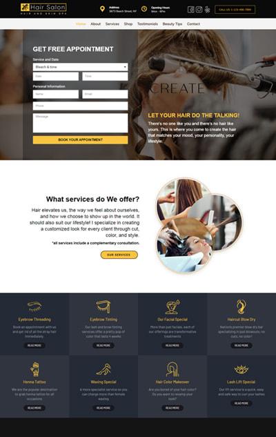 Hair Salon WordPress Theme – Hair Salon Pro