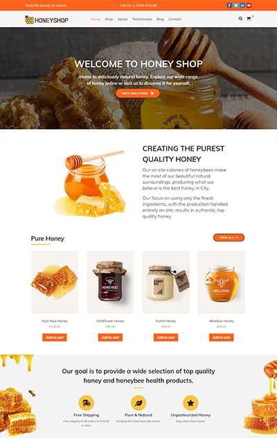 Honey Shop WordPress Theme – HoneyShop Pro