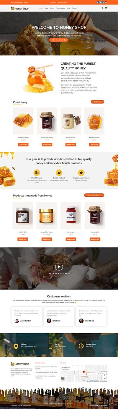 HoneyShop Pro WORDPRESS THEME Full Demo