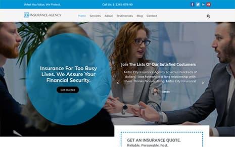 Insurance Agency WordPress Theme – Insurance Now Pro