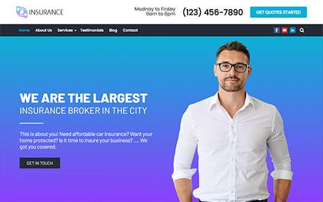 Insurance WordPress Theme – Insurance Pro