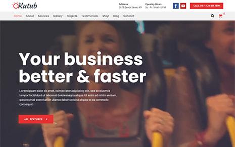 Responsive Multi-Purpose WordPress Theme – Kutub Pro
