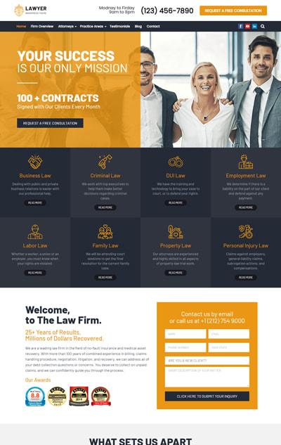 Lawyer WordPress Theme – Lawyer Pro