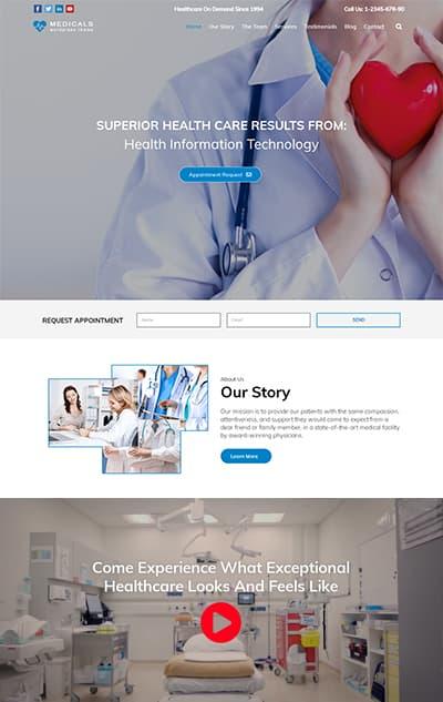 Medical WordPress Theme – Medicals Pro