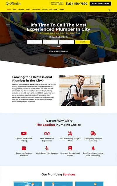 Plumber WordPress Theme – Plumber Pro
