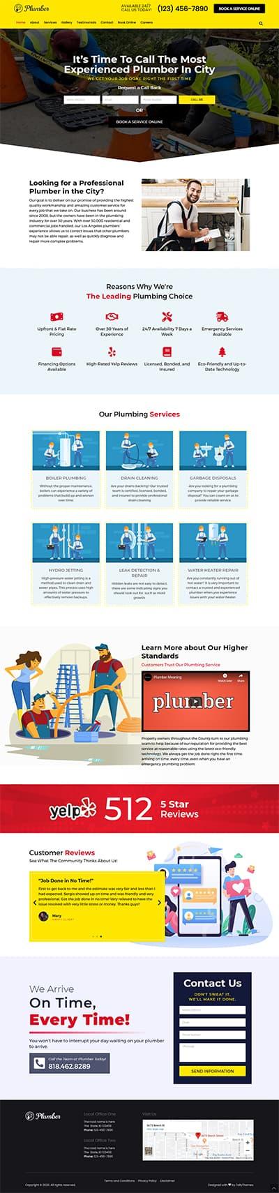 Plumber Pro WORDPRESS THEME Full Demo