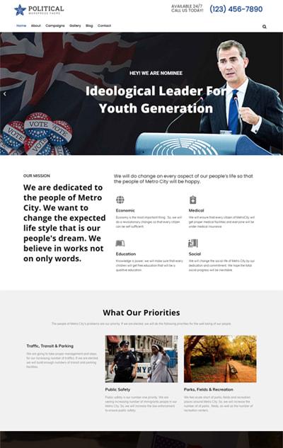 Political WordPress theme – Political Pro