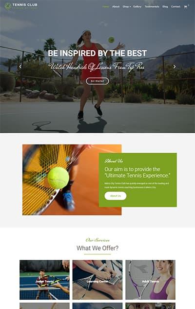 Tennis Club WordPress Theme – TennisClub Pro