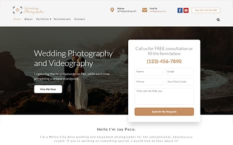Wedding Photographer WordPress Theme – WeddingPhotographer Pro