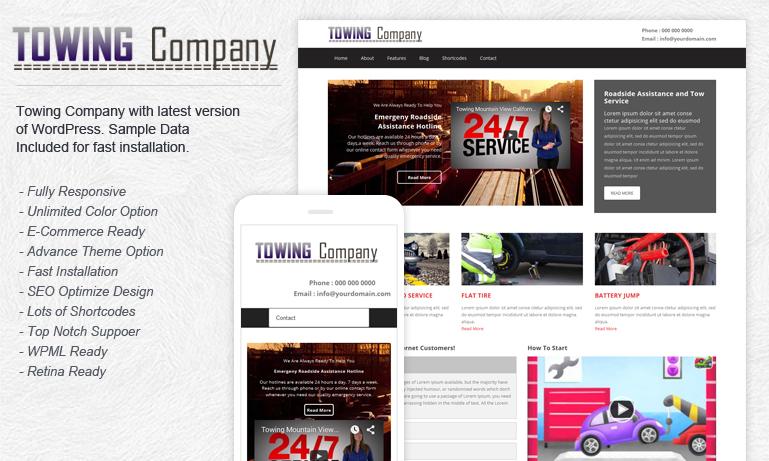 Towing Company WordPress Theme
