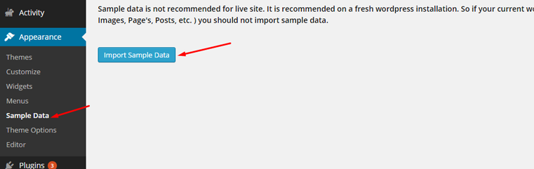 import-sample-data-page