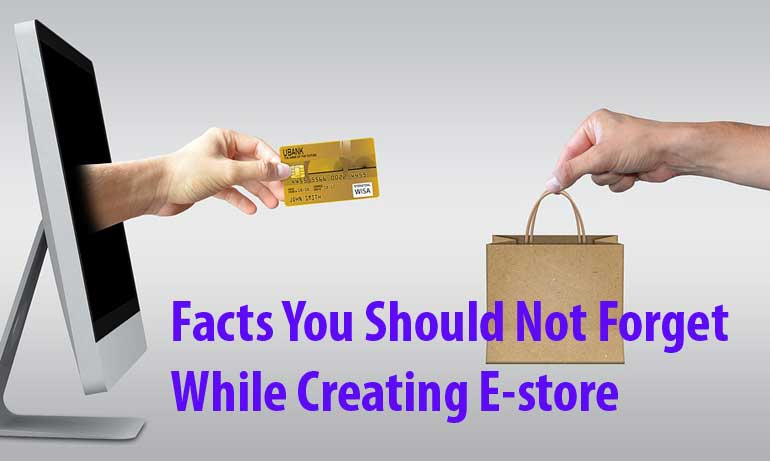Facts You Should Not Forget While Creating E-store